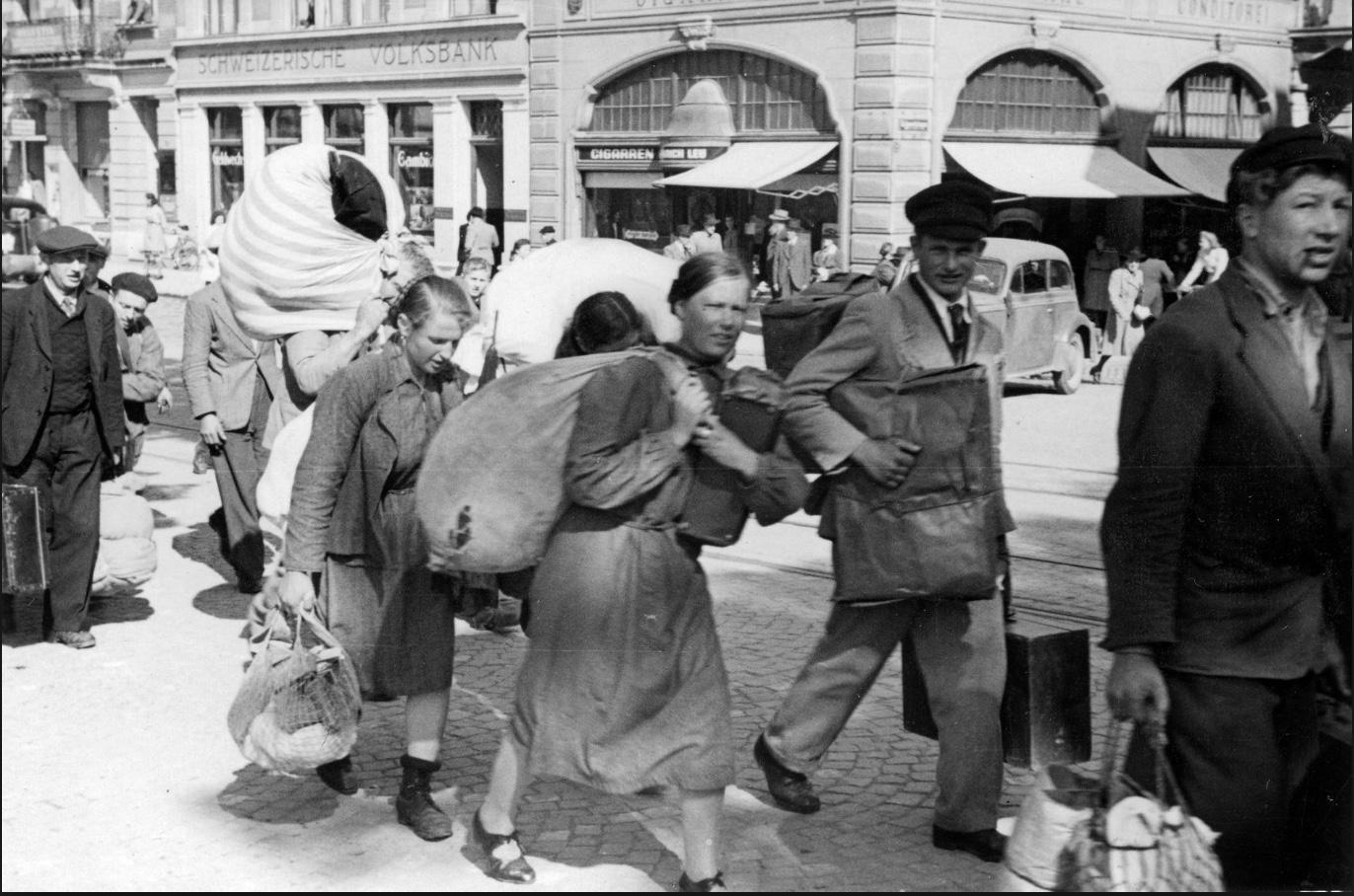 Im April 1945 fliehen Tausende über die Schaffhauser Grenzen vor den Kriegswirren in die Schweiz.